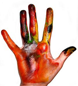Painting Hands - hello